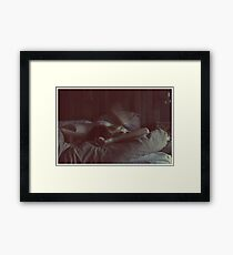 flower, child Framed Print