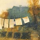 Poem about drying linen by Sergei Kurbatov