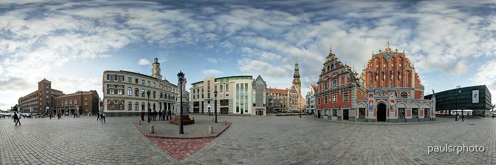 BLACKHEADS HOUSE PANORAMA, RIGA, LATVIA by paulsrphoto