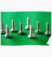 Screw on the Billiard table Poster