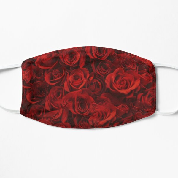 Red Roses Flat Mask