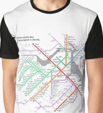 MBTA Boston Subway - The T (light background) Graphic T-Shirt