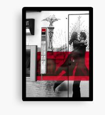 Artistic Grafitti in Paris  Canvas Print