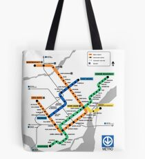 STM Montreal Metro - light background Tote Bag