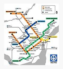 STM Montreal Metro - light background Photographic Print