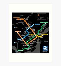 STM Montreal Metro Art Print