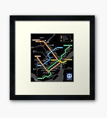 STM Montreal Metro Framed Print