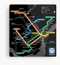STM Montreal Metro Metal Print