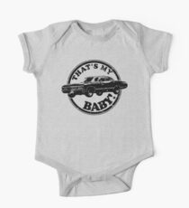 That's My Baby - Black One Piece - Short Sleeve