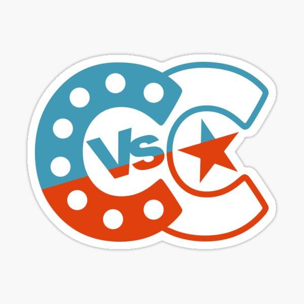 Cabaret vs Cancer - blue/red Sticker