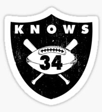 """VICTRS """"34 Knows""""  Sticker"""