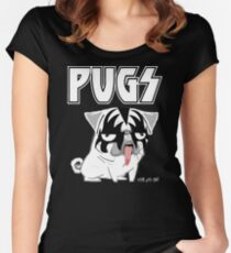 kiss pug Women's Fitted Scoop T-Shirt
