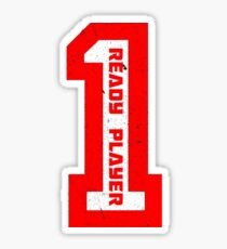 Ready Player One Number Red Sticker