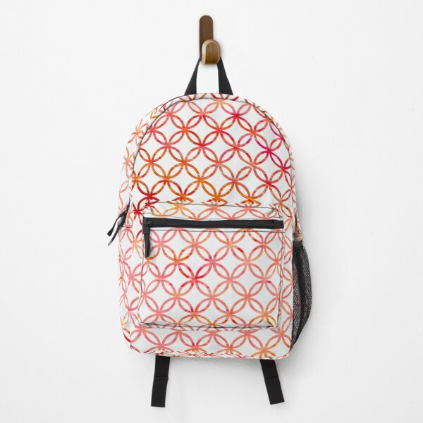 Graphic Pink Circles Backpack