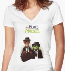 The Blues Muppets Fitted V-Neck T-Shirt