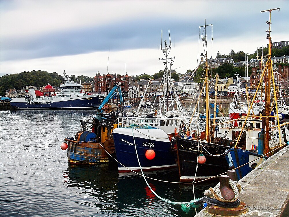 Trawlers waiting ... by globeboater