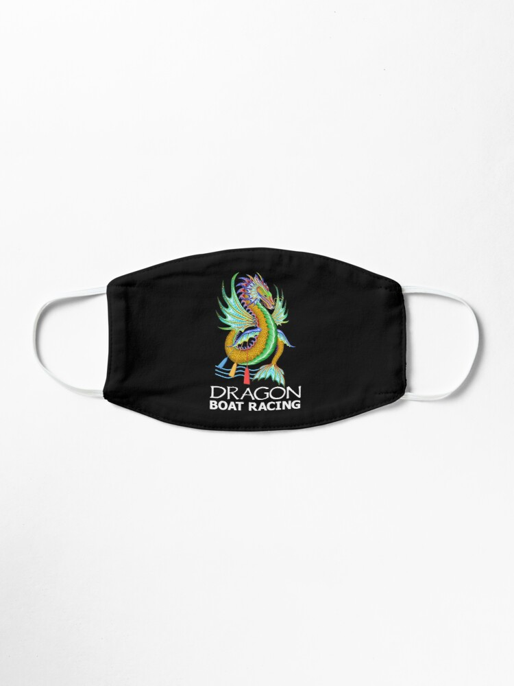 Alternate view of Gold and Green Water Dragon Boat Racing T-Shirt Mask