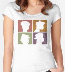 Gorillaz - Demon Days (Silhouette) Women's Fitted Scoop T-Shirt