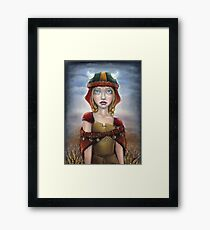 Viking Girl Framed Print