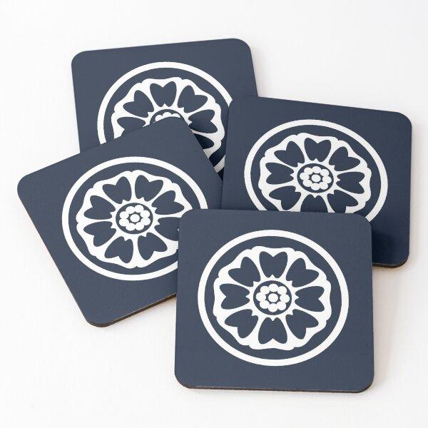 White Lotus Coasters (Set of 4)