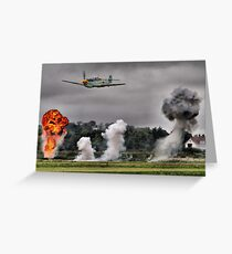 Airfield Attack - Shoreham 2012 Greeting Card