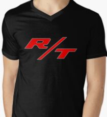 R/T Large Logo Shirt Men's V-Neck T-Shirt