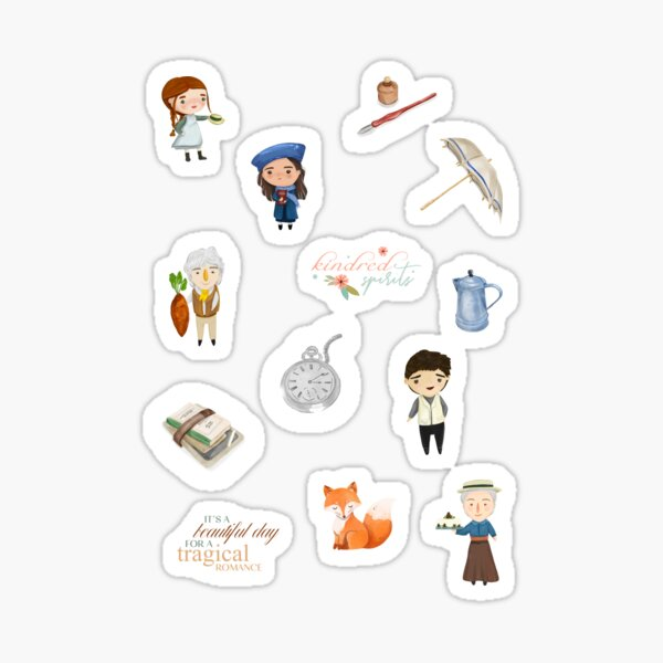 Anne with an E Stickers Set - Anne of Green Gables Sticker