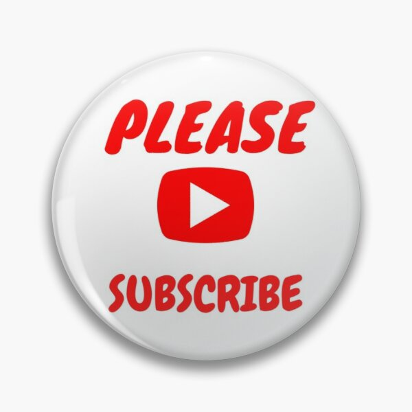 youtube subscribe pins and buttons redbubble redbubble