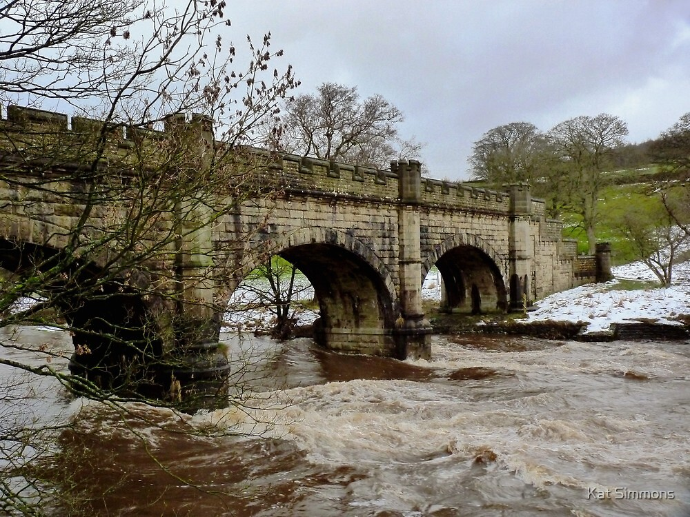 The Wharfe in Flood by Kat Simmons