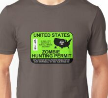 Zombie Hunting Permit 2013/2014 Unisex T-Shirt