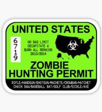 Zombie Hunting Permit 2013/2014 Sticker
