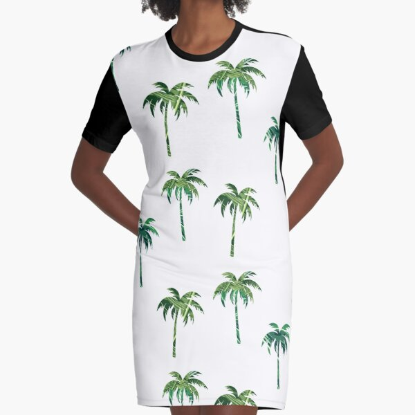 Green palm trees pack Graphic T-Shirt Dress