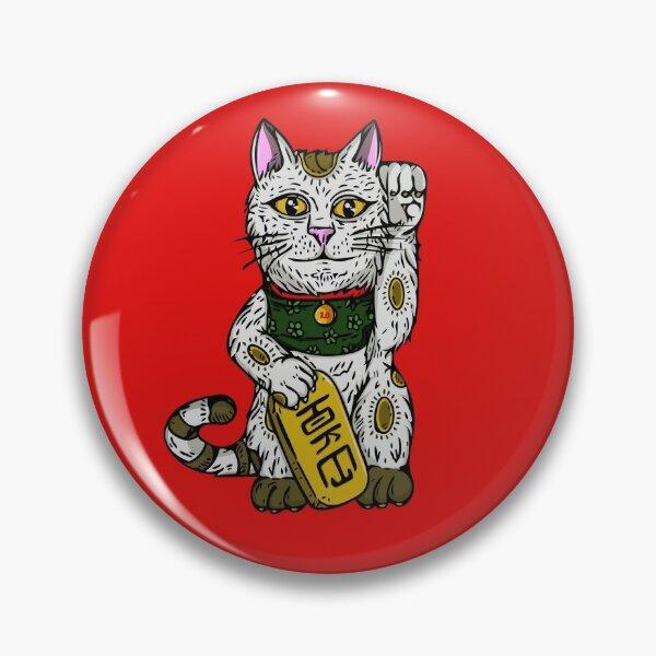 Maneki Neko , Lucky Cat : Good Luck Charm Pin