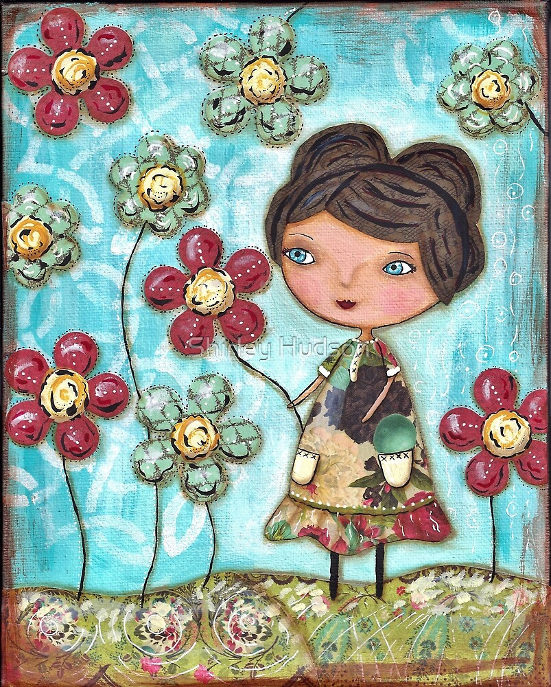 She lingers where the flowers sway by Shirley Hudson