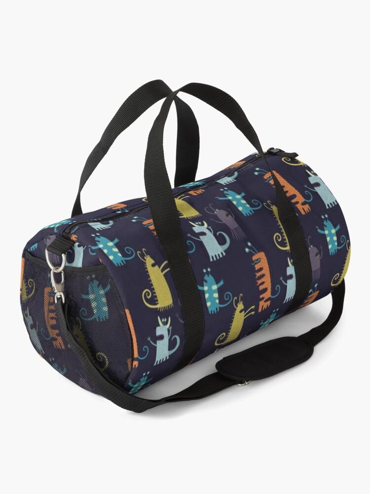 Alternate view of Secretly Vegetarian Monsters Duffle Bag