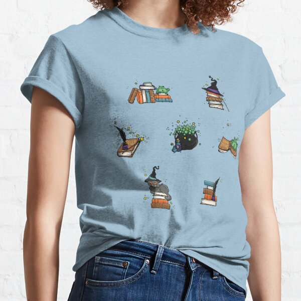 Magical Spells & Potions Artwork in Teal, Stickers & Stationery Classic T-Shirt