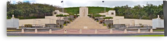 National Memorial Cemetery of the Pacific  by David Davies