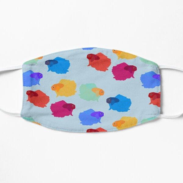 Colorful beta fish  Flat Mask