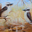 Bush Tunes Kookaburras by Glen Johnson