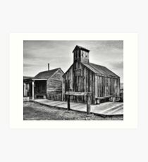 Old West Hitching Post Art Print