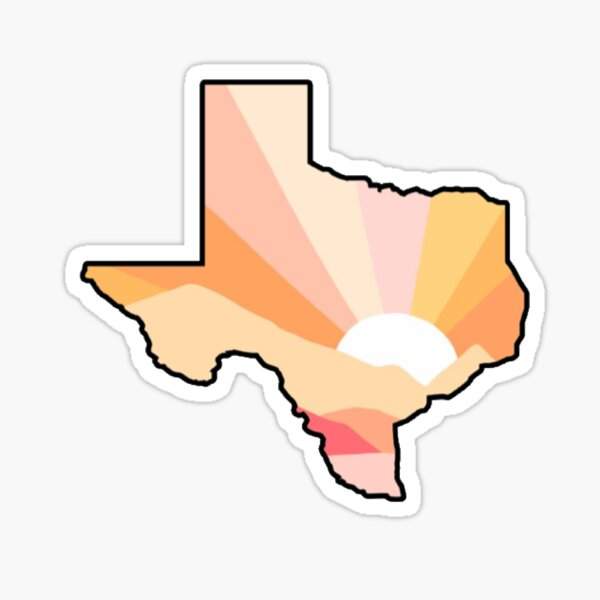 Sunset Print Texas  Sticker