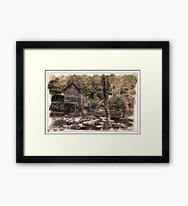 ACROSS THE CREEK AT GLADES MILL Framed Print
