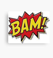 Bam! Comic Book Effect Canvas Print