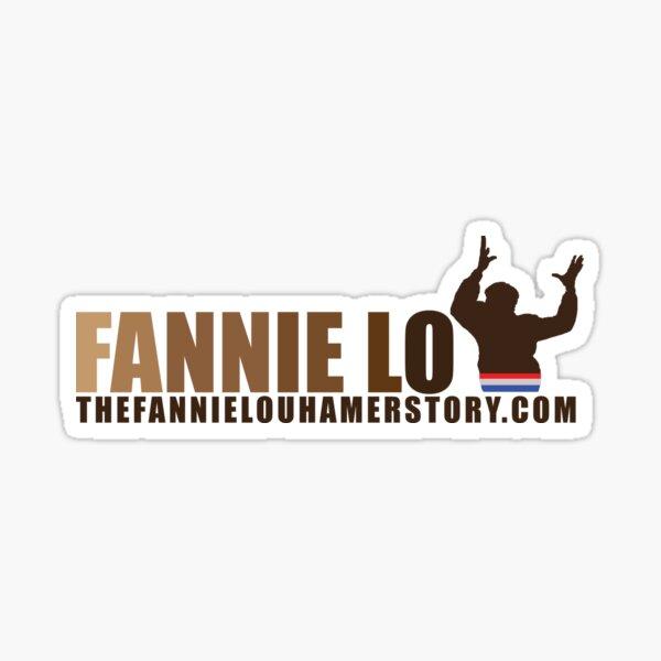 Fannie Lou Hamer with upraised hands of praise Sticker