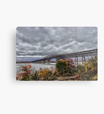 Newburgh / Beacon Bridge Before The Storm Metal Print