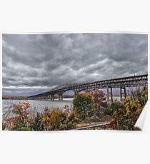 Newburgh / Beacon Bridge Before The Storm Poster