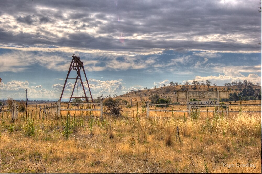 Deserted Railway Station Nimmitabel NSW Rural  no 3 by Kym Bradley