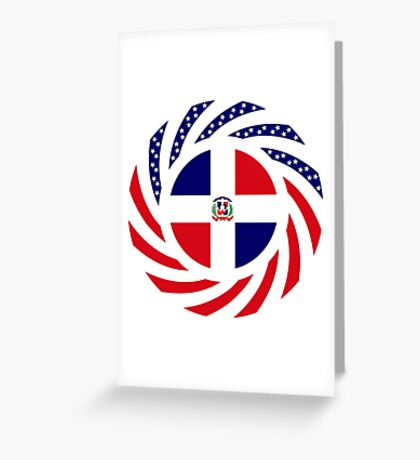 Dominican American Multinational Patriot Flag Series Greeting Card