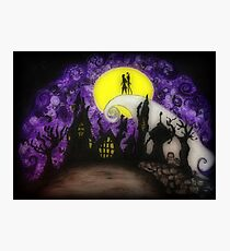 """Nightmare Before Christmas """"Forever"""" Photographic Print"""