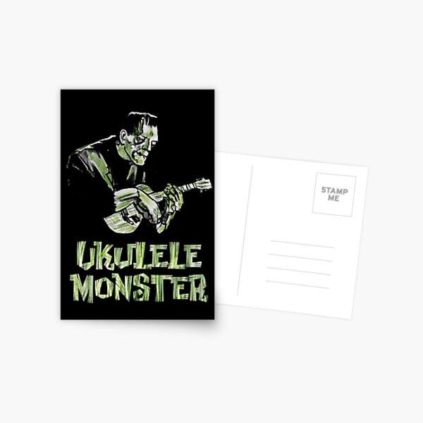 Ukulele Monster - Frank Postcard